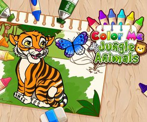 Color Me Jungle Animals