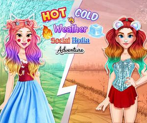Hot vs Cold Weather Social Media Adventure